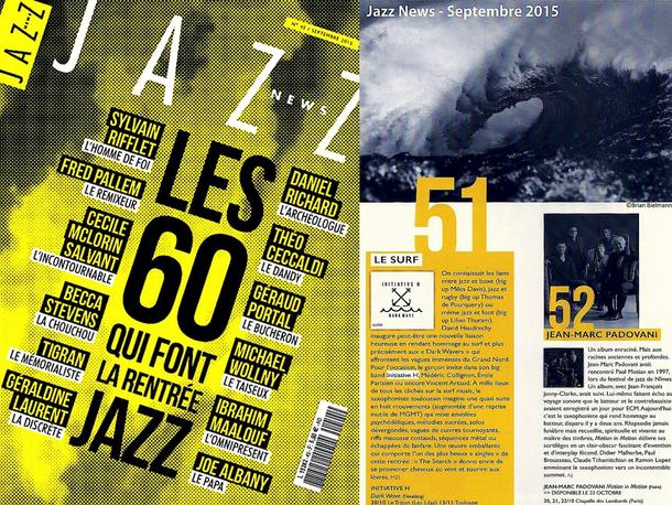 INITIATIVE H featured in Jazz News as one of the 60 best albums of fall 2015