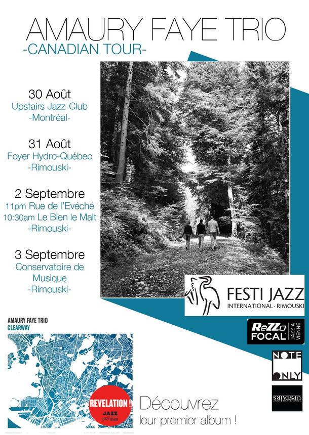 Amaury Faye Trio's Canadian Tour kicks off on August 30th