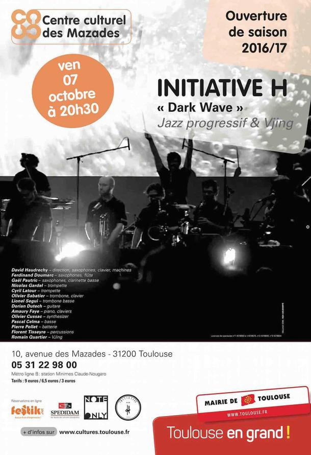 INITIATIVE H & Vjing to perform at Theatre des Mazades
